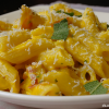 Pompoenpasta met pancetta en salie