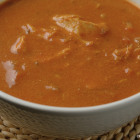 Crockpot: romige tomatensoep met kip