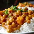 Curry met zoete aardappel