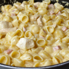 Mac 'n Cheese met kip en ham