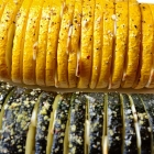 Geroosterde courgette met knoflook uit de oven