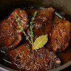 Draadjesvlees met rode wijn