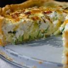 Lente quiche met geitenkaas en courgette