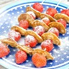 Happy kids: poffertjes en aardbeien