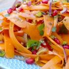 Marokkaanse wortelsalade met pistache en granaatappel