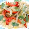 Wraps met geroosterde groenten en spicy hummus