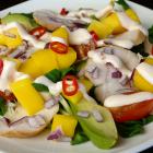 Salade met gerookte kip en mango
