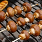Barbecue: Honing-balsamico champignons