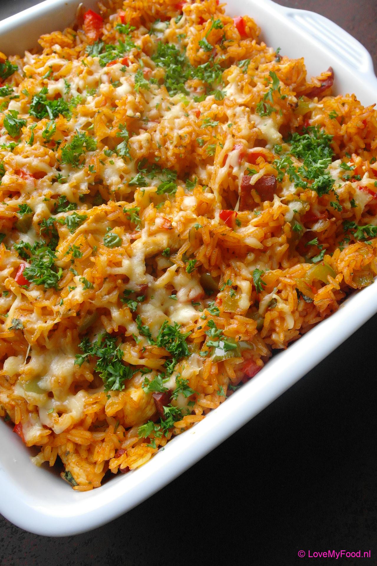 kip rijst gerechten