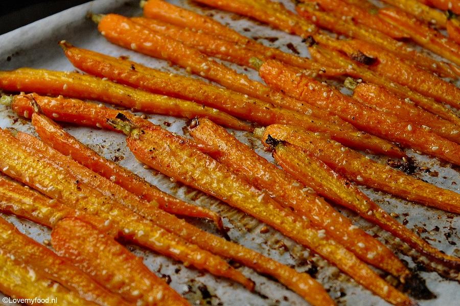 wortels oven