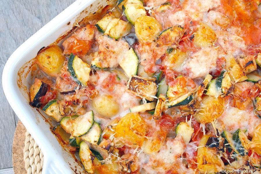 recept courgette ovenschotel